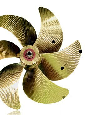 ship propeller / fixed-pitch / shaft drive / custom