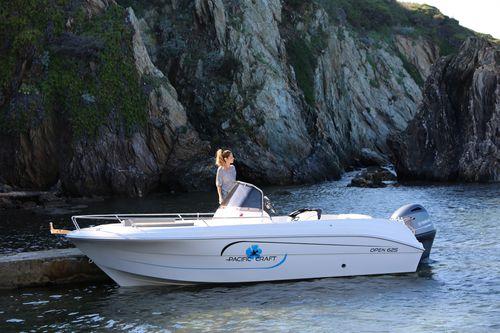 outboard center console boat / center console / open / 7-person max.