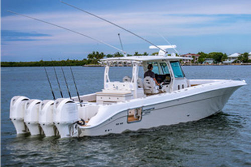 Outboard Center Console Boat Four Engine Offshore Sport