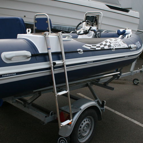 inflatable boat ladder / telescopic / boarding / manual