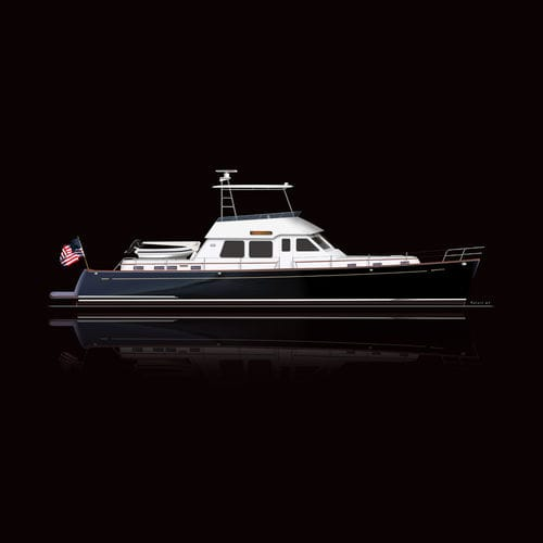 cruising motor yacht / classic / flybridge / with 2 or 3 cabins