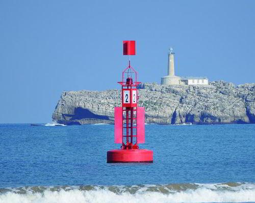beacon buoy / mooring / high seas / with radar reflector