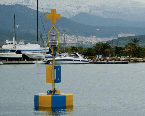 beacon buoy / high seas / with radar reflector / polyethylene