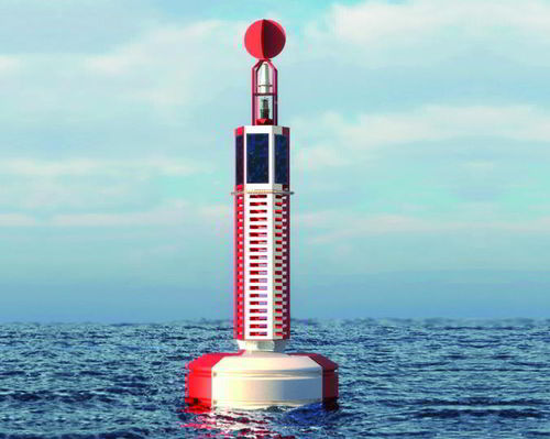 beacon buoy / high seas / with radar reflector / polyethylene