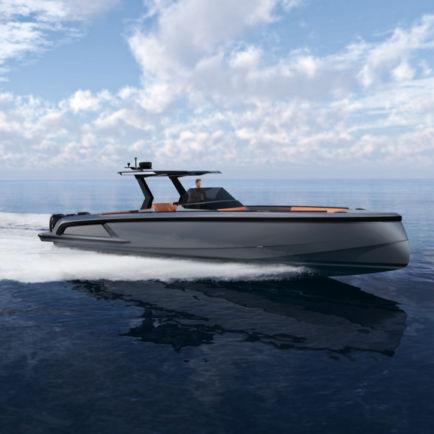 outboard center console boat