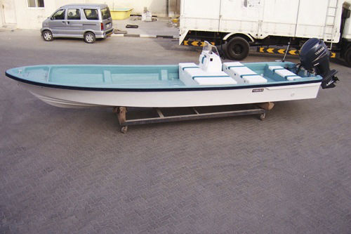 outboard center console boat / open / sundeck