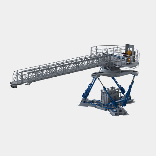 offshore service vessel gangway / telescopic / motion-compensated / hydraulic
