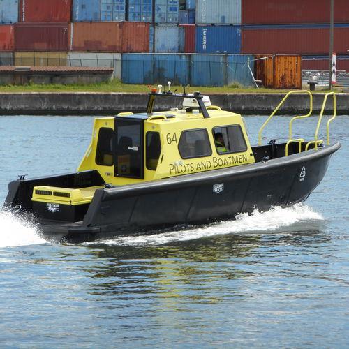 hydrographic survey boat / inboard waterjet / diesel / HDPE