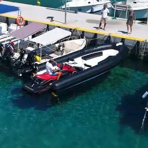 jet-ski propelled inflatable boat