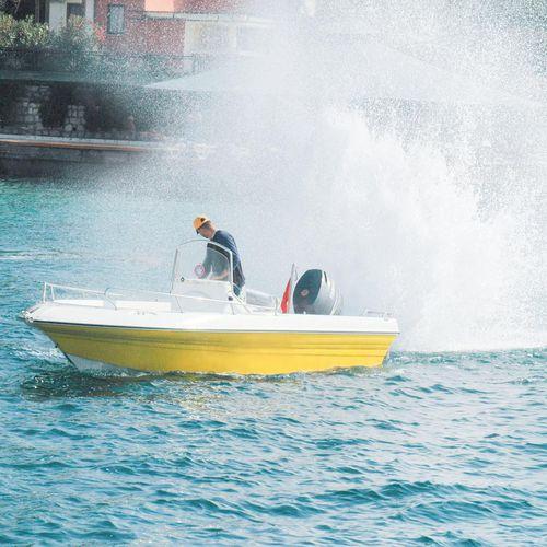 outboard center console boat / center console / 5-person max.