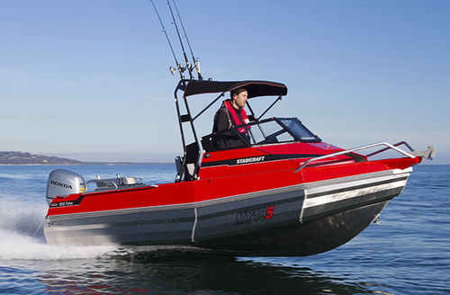 outboard walkaround / sport-fishing / 6-person max.