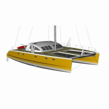 sailing catamaran / fast cruising / with enclosed cockpit / 4-cabin