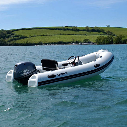 outboard inflatable boat / rigid / side console / yacht tender