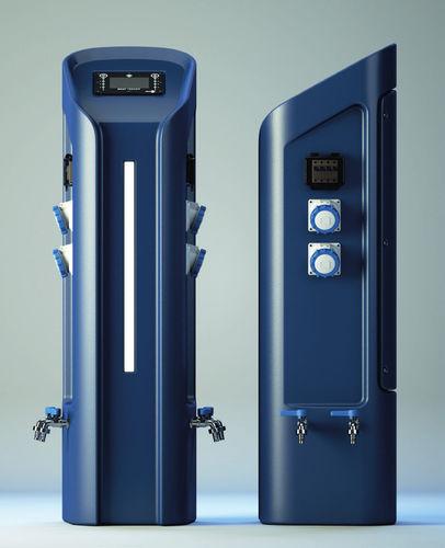 lighting pedestal / information / electrical distribution / water supply