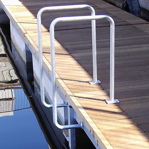 dock ladder / fixed / emergency / stainless steel