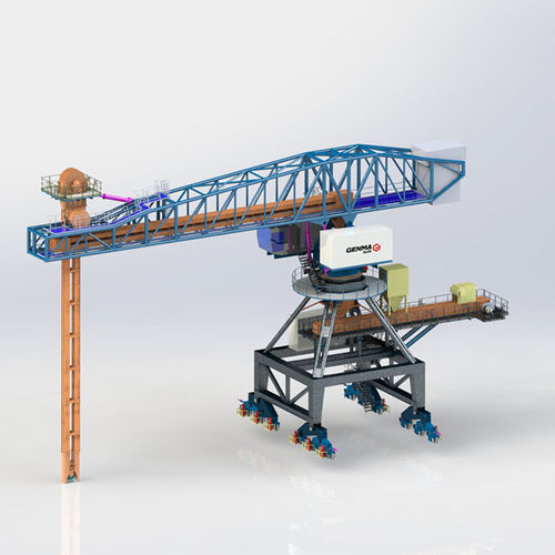 continuous ship unloader / mechanical / mobile