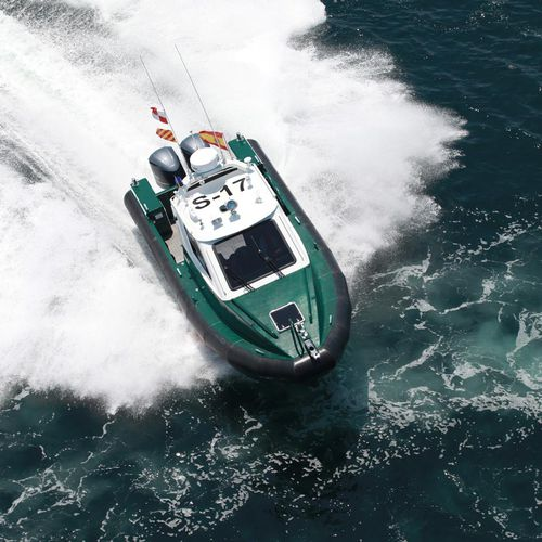 patrol boat / outboard / aluminum