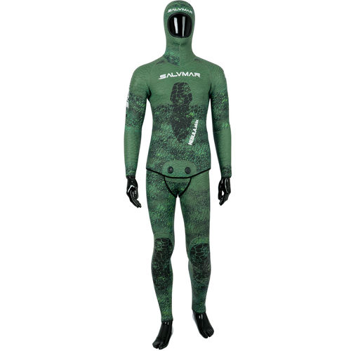 spearfishing wetsuit / with hood / two-piece / 5.5 mm