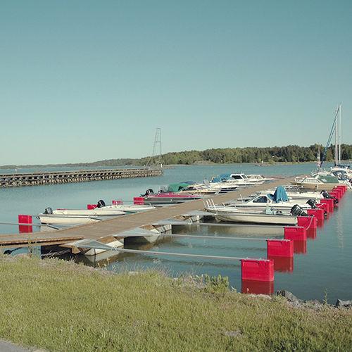 floating dock / mooring / for marinas / wood