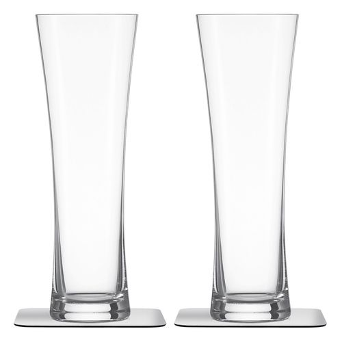 crystal glass / with magnet / for beer