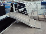 ship gangway / for barges / terminal / manual