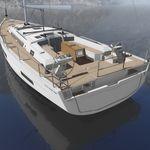 cruising sailing yacht / open transom / fiberglass / 6-cabin