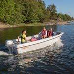 outboard small boat / open / sport-fishing / 5-person max.