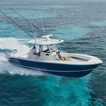 outboard center console boat / twin-engine / dive / sport-fishing