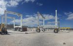 articulated crane / for heavy loads / gantry / rubber-tired