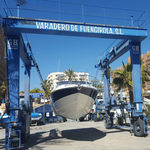 yacht crane / port / for marinas / rubber-tired