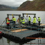 floating dock / work / for harbors / for inland waterways