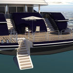 yacht ladder / fixed / swim / stern
