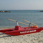 rescue rowing catamaran