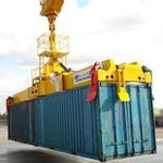 container spreader / for mobile harbor cranes / telescopic / twin-lift type