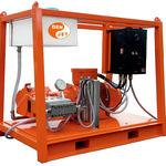 shipyard high-pressure cleaner / skid-mounted / electric drive / ATEX