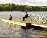 floating dock / landing stage / for marinas / wooden