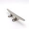 boat mooring cleat / for yachts / flat / polished stainless steel