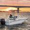 outboard center console boat / center console / for fishing / 8-person max.