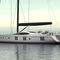 cruising sailing yacht