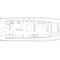 motor yacht with enclosed flybridge / displacement hull