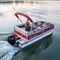 outboard pontoon boat / sport-fishing / 7-person max.