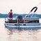 outboard pontoon boat / electric / sport-fishing / 7-person max.