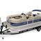outboard pontoon boat / tri-tube / sport-fishing / 10-person max.