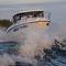 outboard walkaround / wheelhouse / sport-fishing / 10-person max.