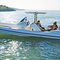 outboard inflatable boat / twin-engine / rigid / center console