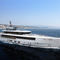 cruising mega-yacht / wheelhouse / steel / vertical bow