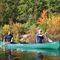 recreational canoe / tandem / fiberglass