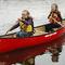 recreational canoe / 2-person / fiberglass