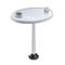 removable boat table pedestal