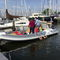 outboard inflatable boat / rigid / side console / 12-person max.